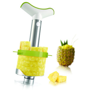 Obierak i nóż do ananasa średni stalowy TOMORROW'S KITCHEN Pineapple Slicer & Wedger Stainless Steel